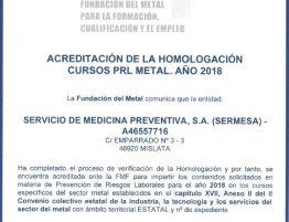 Cursos PRL Metal